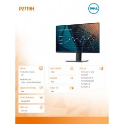 Dell Monitor 27 P2719H IPS...